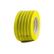 6 Rolls Yellow Poly Bag Sealing Tape: 3/8 in. wide x 180 yds. length