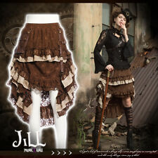 SteamPunk victorian sky pirate tiered floral lace skirt w/ holster SP167 C