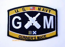 US NAVY GUNNER'S MATE GM RATING HAT PATCH USS PIN UP USN ENLISTED CHIEF GIFT