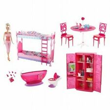 Barbie Furniture Multi Set Bunkbed Fridge Bathtub Table Doll 2012 X4927 NEW