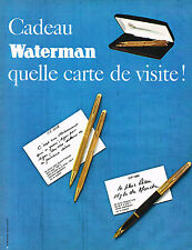 PUBLICITE ADVERTISING 014   1969   WATERMAN   stylos 3