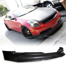 Fit For 03-07 Infiniti G35 2Dr Coupe Type-V Front Bumper Lip PU