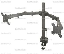 "EZM Dual LCD Monitor Mount Stand Desktop Clamp - up to 27"" (002-0007)"