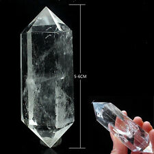 1pcs 100% Natural Rock Clear Quartz Crystal DT Wand Point Healing 5-6cm Hot