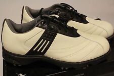 Adidas Wide Torsion Euro II Golf Shoes Rich Cream/Black Leather Z Traxion 4 New