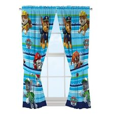 Paw Patrol Window Drapes Curtain Drapery Set Puppy Dog Boys Kids Bedroom 41 x 63