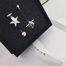 Long Irregular Earrings Unique Geometric Star Drop Ball Dangle Women Ear Jewelry