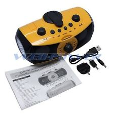 Hand Crank DYNAMO AM/FM Radio + Phone Charger + SD MP3 Player + Alarm + Siren