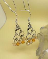 Boucles d'oreilles cristal Swarovski et metal argenté