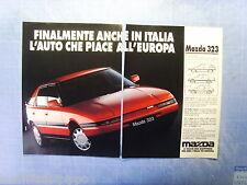 QUATTROR990-PUBBLICITA'/ADVERTISING-1990- MAZDA 323 -2 fogli