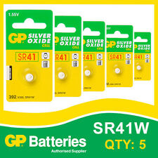 GP Silver Oxide Button Battery 392 (SR41) card of 5  [WATCH & CALCULATOR]