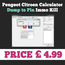 PSA CALCULATOR for PEUGEOT CITROEN Pin Programmer Kill Immo PIN Calculator