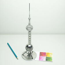 Doodles Destinations Style Pearl TV Tower Building Wire Architectural Model