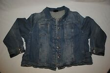 Lane Bryant Jean Jacket Stonewashed Light to Med Blue Jean Denim Womens Plus Sz