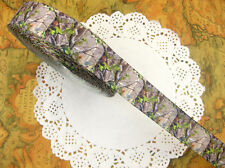 5 yd Mossy Oak printed grosgrain ribbon for hairbow - Free Shipping