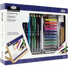 30 PIECE SET ROYAL & LANGNICKEL DRAWING ART SET WITH EASEL ARTIST PAD KIT