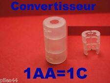 Convertisseur de Piles ou Accus AA en C Adaptateur lr6 R14 Lr14 Transformateur