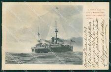 Marina Militare Incrociatore Carlo Alberto cartolina XB1931
