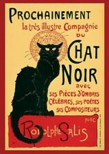 CHAT NOIR GIANT POSTER (140x100cm) BLACK CAT FRENCH SALIS NEW