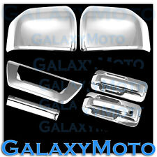 15-16 Ford F150 Chrome Mirror+2 Door handle+Smart Hole+Back Plate+Tailgate Cover