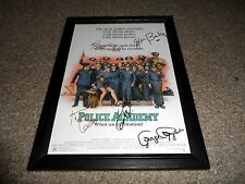 "POLICE ACADEMY PP CASTX5 SIGNED & FRAMED 12""X8"" A4 PHOTO POSTER KIM CATTRALL"