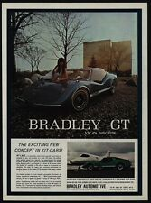 1972 BRADLEY GT Kit Car - VW In Disguise - Sexy Woman Lays On Hood - VINTAGE AD