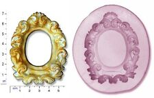 FRAME OVAL / Ribbons & Roses Craft Sugarcraft Chocolate Soap Mould Mold