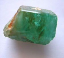 Rough Natural Uncut Colombian Emerald Crystal, 7.5cts,  9mm x 12mm