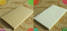 A5 50 Sheets Blank Lined 6 Hole Paper Pad Refills Inserts For Note Book Journal