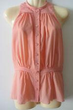 Balenciaga peach silk top size 38, AUS 6-8, NWOT