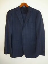 RECENT Hugo Boss Suit Jacket Pants SHADOWPLAID Navy Blue 36R The James3 / Sharp5