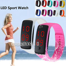 New Men Women Silicone Band Bracelet Digital LED Electronic Sports Running Watch