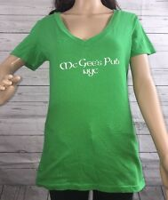 McGee's Pub NYC St. Patrick's Day T-Shirt How I Met Your Mother Green Top Large