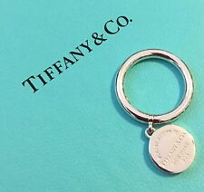 NIB New Tiffany & Co Round Tag Ring Size 4 Small Pinky Ring Sterling Silver