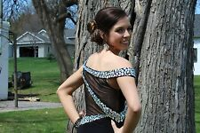 Black full length Prom Dress with bling!