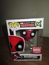 Marvel Collector Corp Deadpool Funko #123 Exclusive Pop Deadpool Leaping