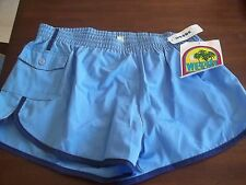 NWT VINTAGE 80's WEEDS BRAND BLUE MEN'S BEACH SHORTS SIZE 36-38 large SWIMSUIT