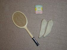 Vintage Barbie Time for Tennis Racket, Socks, and Tennis Rules Book