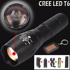 Police LED Flashlight Tactical G700 X800 5000LM XML-T6 Zoomable Torch Lamp Light