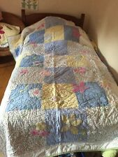 New Pottery Barn Kids Vine Patchwork Quilt Twin Flowers Floral
