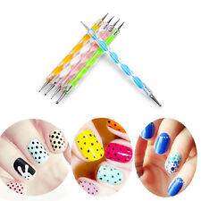 5 Double Ended Ball Stylus DIY kit Nail Art Clay Paper and Metal Embossing Tools