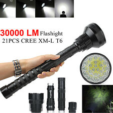 30000 Lumens XLightFire 5 Mode 12x CREE XML T6 18650 LED Flashlight Bright