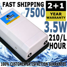 Aqua One Precision 7500 Twin Outlet Air Pump Aquarium Water Fish Tank Oxygen