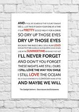 The Gaslight Anthem - Boomboxes & Dictionaries - Song Lyric Art Poster - A4 Size