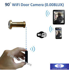 Wireless WiFi Door Peephole Camera Motion Detect Recording for iPhone Smartphone