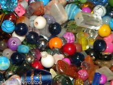 NEW 6/oz Multi- MIX 6-15mm of LOOSE BEADS LOT Gem, Stone, Glass, pearls (u9)