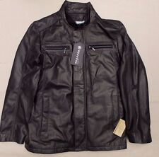 TRAPPER LAMB LEATHER MENS JACKET BNWT £285+ GENUINE BLACK BIKER COAT 50 NAPPA