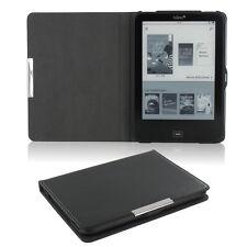 Flip Tasche für Tolino Vision 1 2 3 HD Leder-Imitat Schwarz Schutzhülle Etui