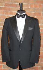 MENS 46 L CLASSIC 1 BUTTON BLACK PEAK COMPLETE TUXEDO SHADOW by CHRISTIAN DIOR