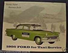 1956 Ford Taxi Catalog Sales Brochure Excellent Original 56
